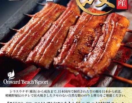 嵯峨野の土用の丑の日特別ランチ オンワードビーチリゾート