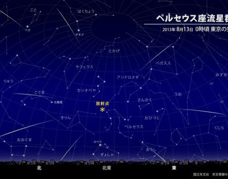 ペルセウス座流星群をグアムで見よう