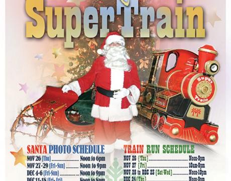 サンタと一緒に記念写真 スーパートレイン マイクロネシアモール