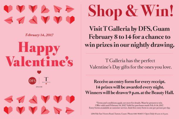 バレンタインのショッピングがダブルで楽しめる、期間限定の特別イベントを開催中 (Tギャラリアグアム)