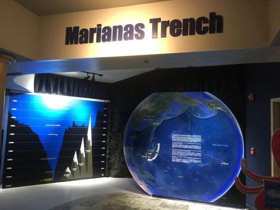 アンダーウォーターワールドのマリアナ海溝展
