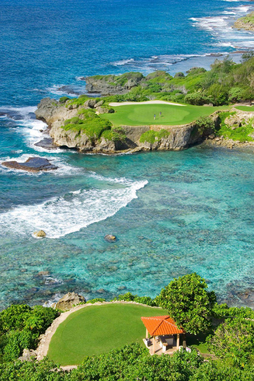 海越え12番ホール オンワードマンギラオゴルフクラブ
