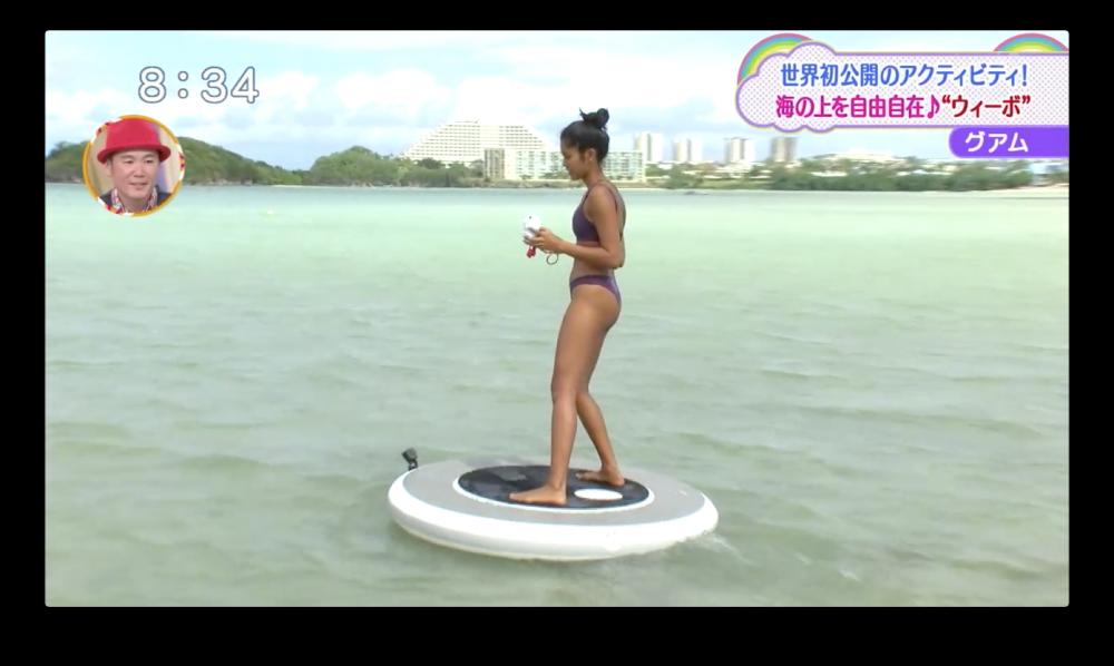 海の上を自由自在に移動できる、グアムの水上アクティビティ ウィーボ(Wheeebo)